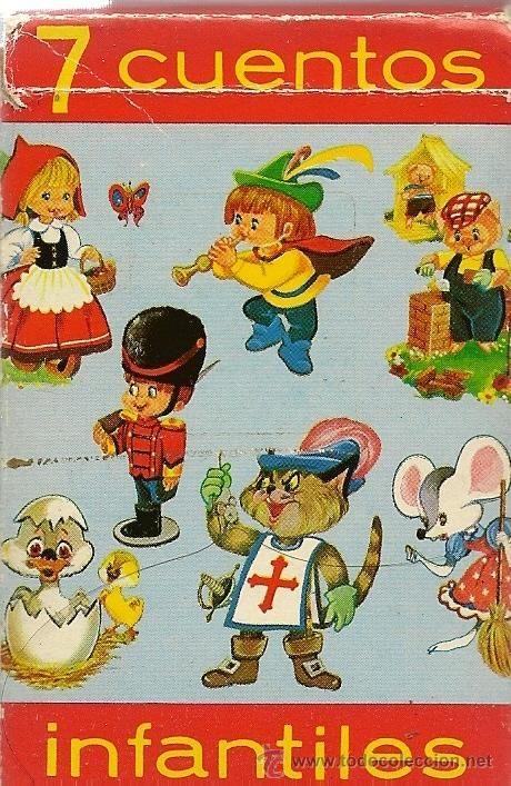 BARAJA DE NAIPES INFANTIL HERACLIO FOURNIER Y REGLAMENTO -7 CUENTOS INFANTILES - 1971 - BUEN ESTADO