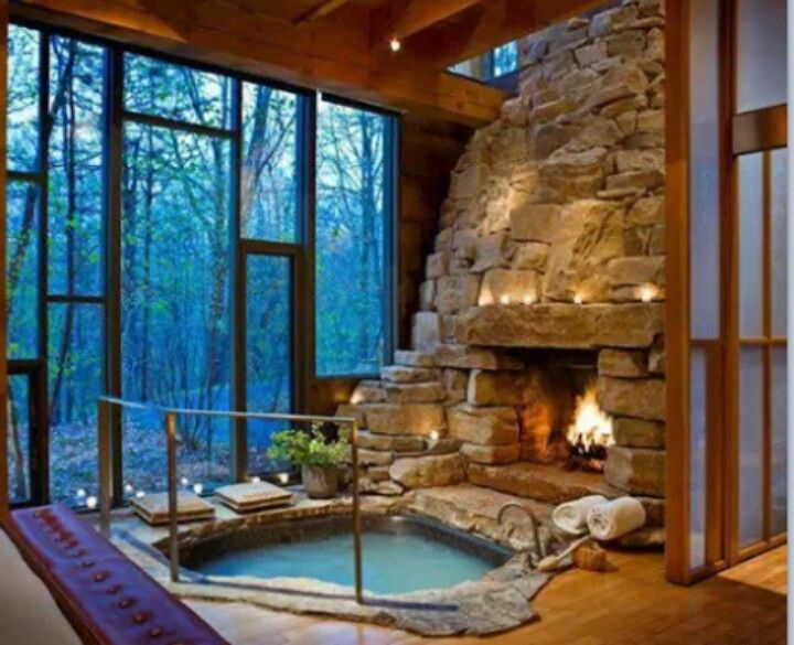Fireplace And Jacuzzi Dream Cabin Pinterest