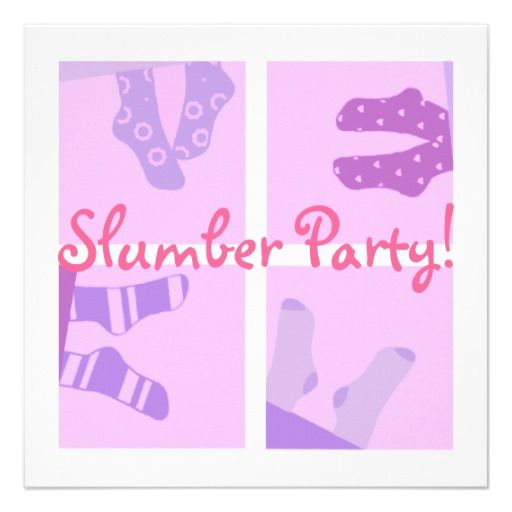 Slumber Party Invitation with best invitation design