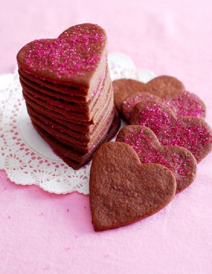 Pretty Valentines Heart Brownie Roll-Out Cookies www.rhsignature.com