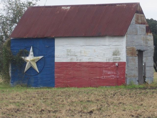 Love Old Barns And Texas Flags The Red White Blue