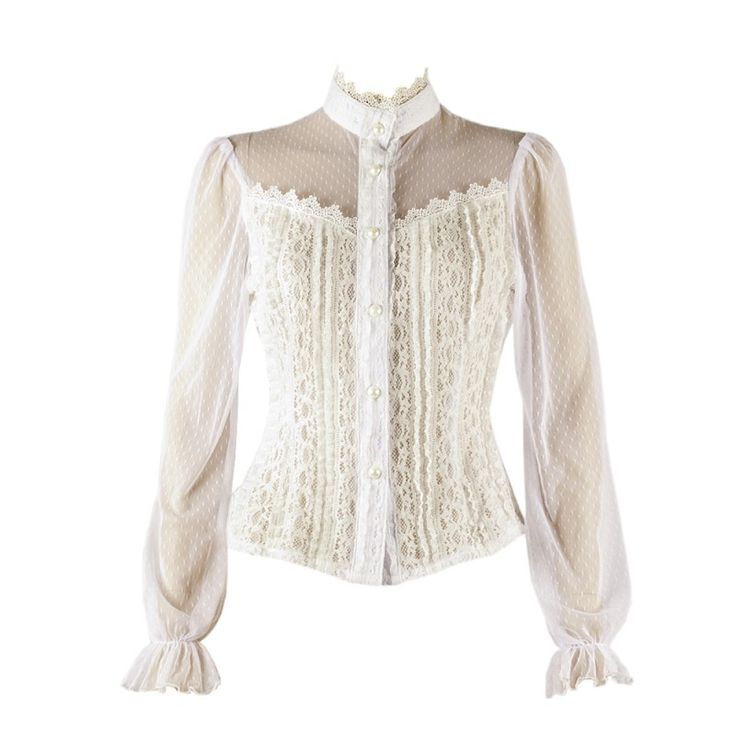 White Frilly Blouses 119