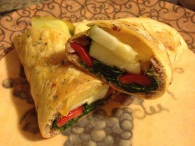 Garden Veggie Wrap   Veg Food   Pinterest
