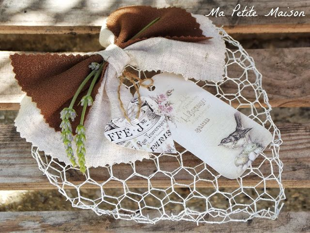 decorazioni shabby chic addobbi fai da te : Shabby Chic: Come fare cuore in rete - Tutorial in Italiano