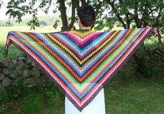 granny square shawl pattern