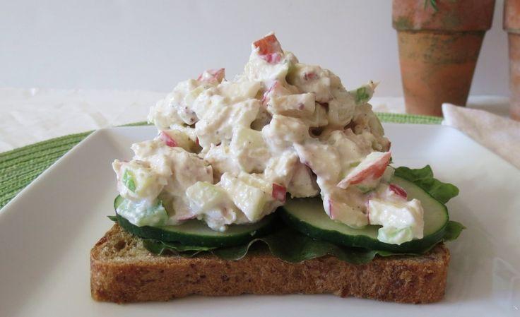 healthy california chicken salad...made with greek yogurt