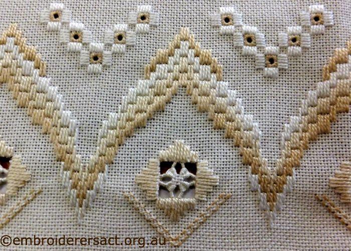 Hardanger bargello borduren pinterest