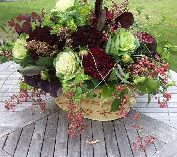 Centerpiece with cabbage ornamental kale pinterest