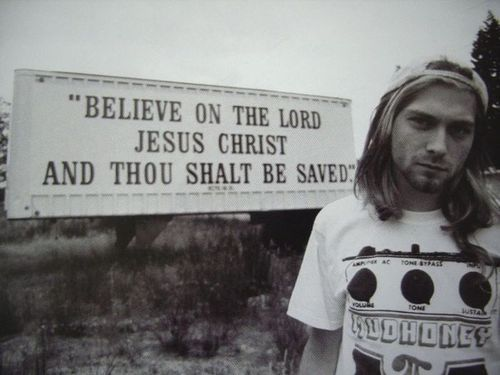 I read online that this is one of the only pictures Kurt Cobain liked of himself. I wonder if it's true.