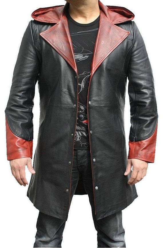 Devil May Cry dante cowhide leather jacket by popularjackets, $179.99
