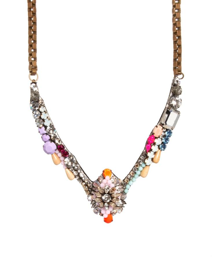 Multi Gem Necklace / Shourouk Tabatha