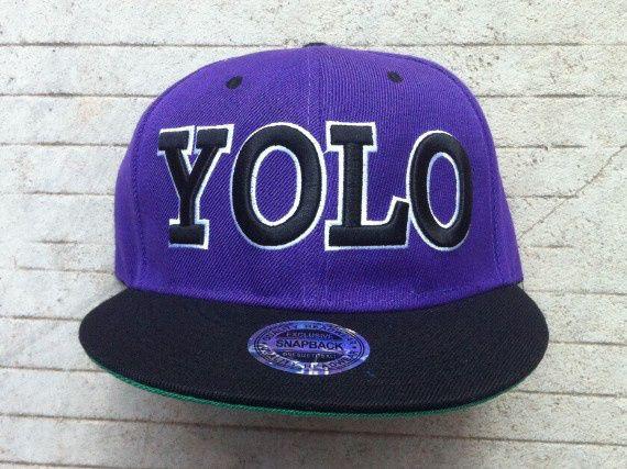 Yolo Snapback Hats Caps purpleYolo Snapbacks