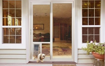French Doors With Dog Door Built In For The Home Pinterest