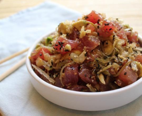 Tuna poke - The Boston Globe. hawaiian dish with tuna, avocado and ...