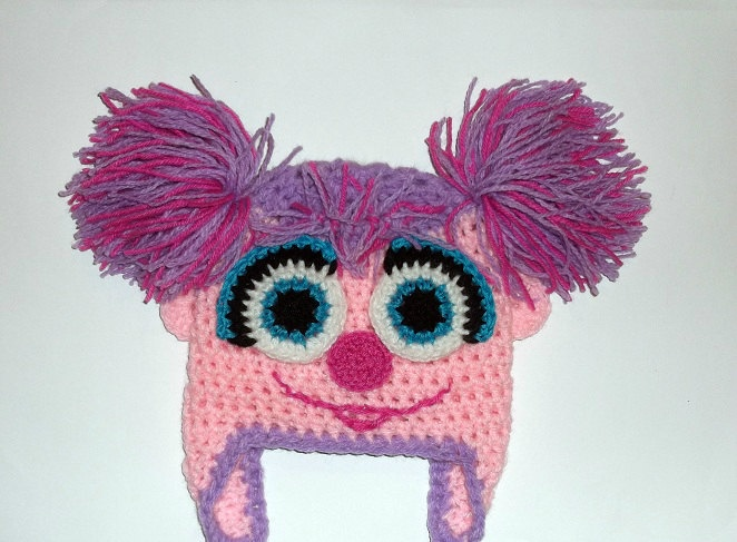 Abby Cadabby Hat CROCHET PATTERN, Sesame street, Beanie and Earflap, Newborn to Adult - Instant Download. $2.99, via Etsy.