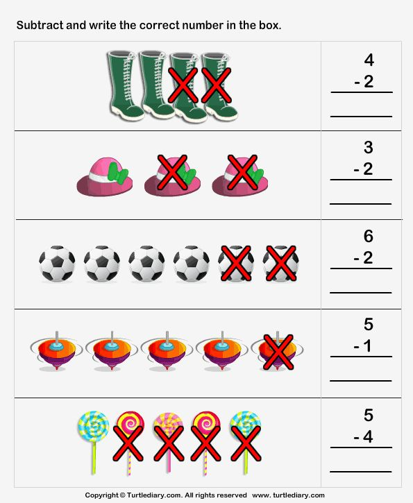 Amelia Year 2 - Picture Subtraction Worksheets
