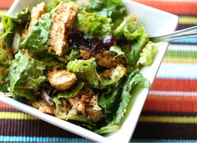 Chicken Parmesan Salad   fLaT bELLy FOODS   Pinterest