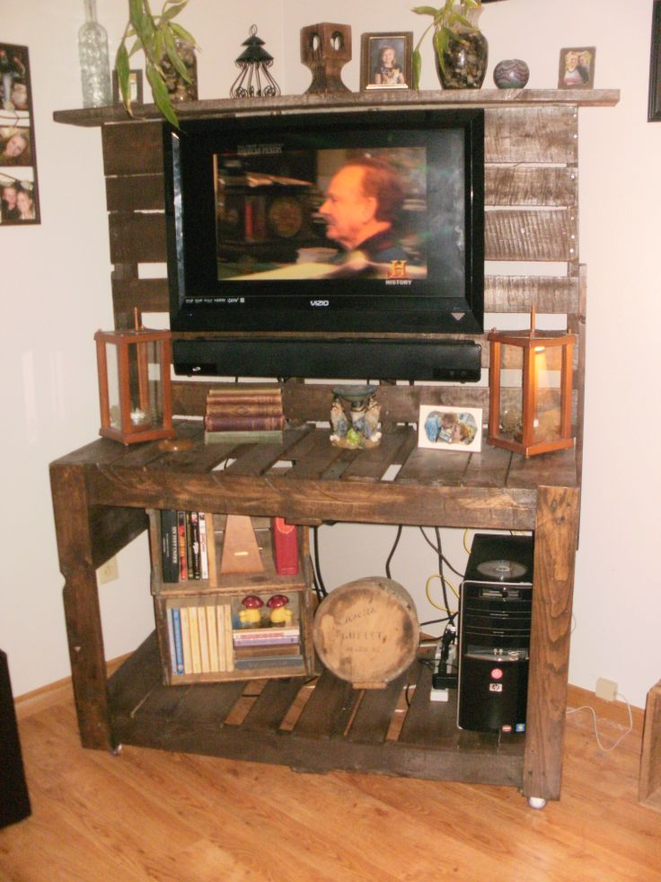Easy Diy Pallet Entertainment Center Homemade Home