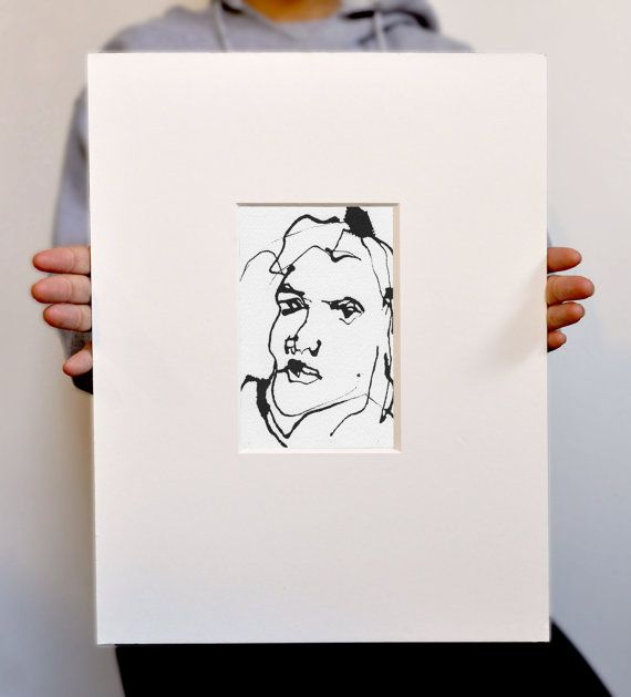 Art pen and ink sketch drawing portrait woman by vhmckenzie 250 00