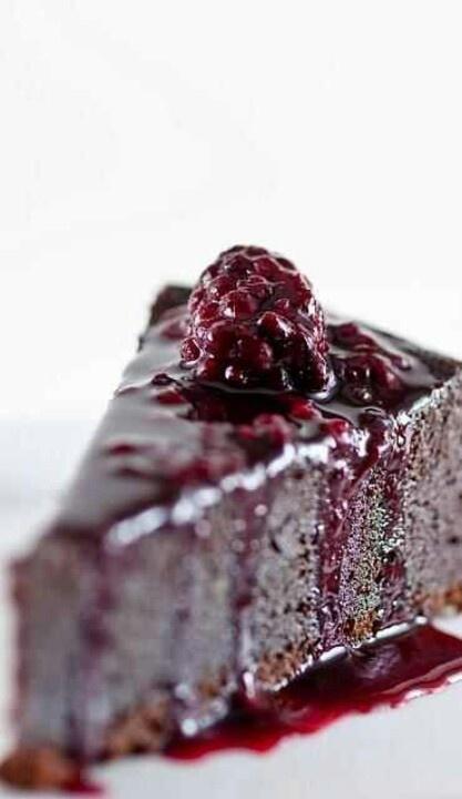 Blackberry cheesecake!!   Decadent Desserts   Pinterest
