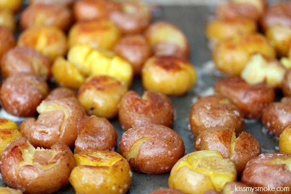 Grilled Smashed Potatoes   Best of Food Blogger Recipes   Pinterest