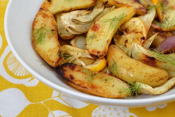 Roast Chicken With Fennel, Potatoes, And Citrus Recipe — Dishmaps