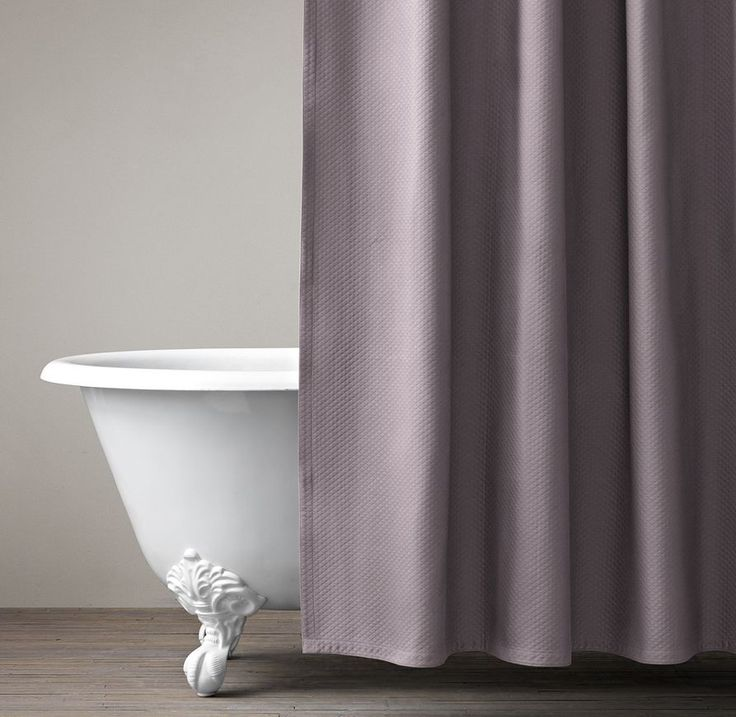 Restoration Hardware Diamond Matelassé shower curtain in Orchid; $89