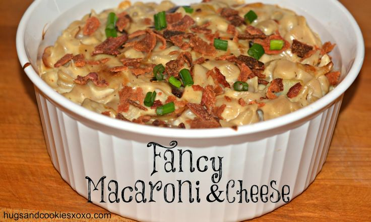 FANCY 3 CHEESE MACARONI WITH CARAMELIZED ONIONS & BACON!!! - Hugs and ...
