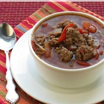 Beef and Pepperoni Soup | Gluten-Free Soups & Salads | Pinterest