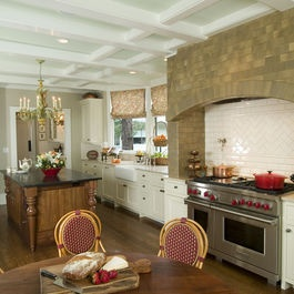 modern dining area and kitchen