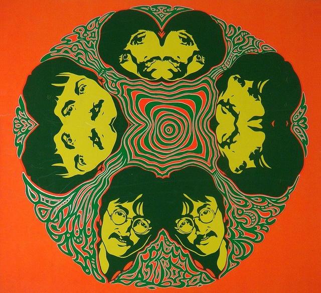 Psychedelic art beatles