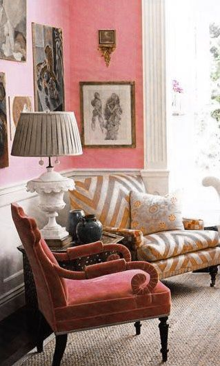 ♡ Home Pink Home ♡  pink sitting room