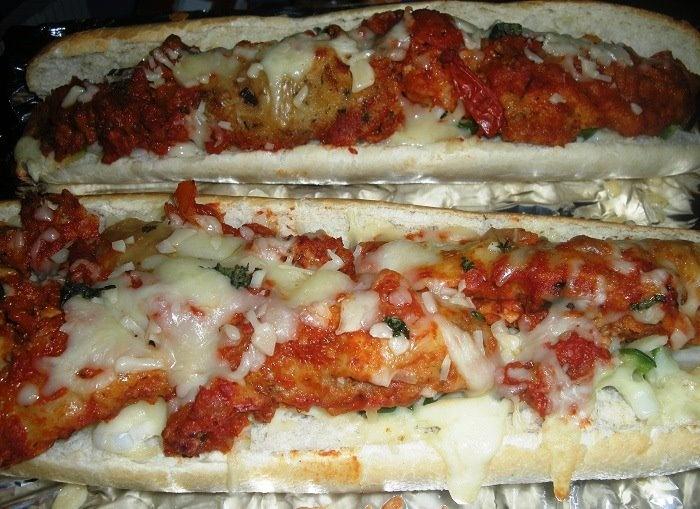 homemade chicken parmesan subs | FOOD | Pinterest