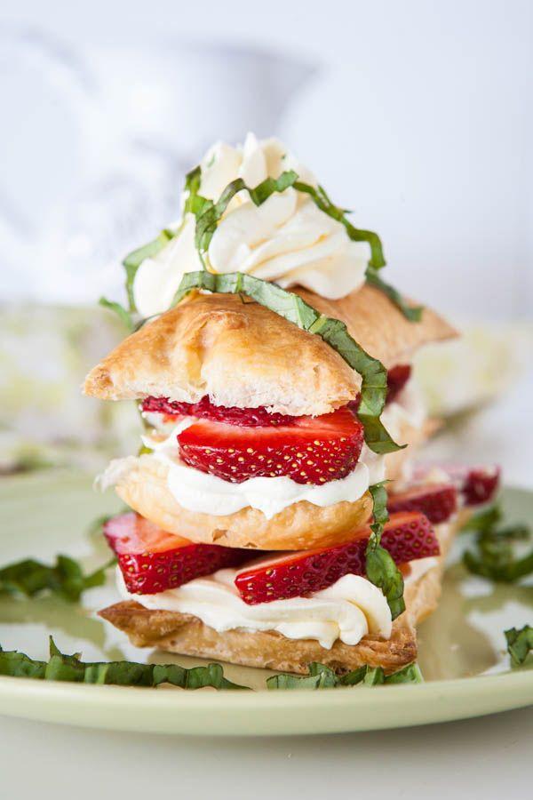 Easy Strawberry Basil Napoleons | Recipe