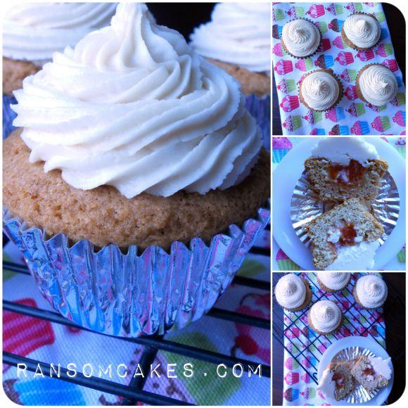 Vegan Gluten-Free Jam-Filled Vanilla Cupcakes w Orange Scented ...