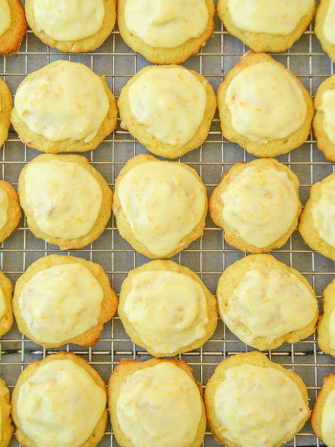 lovin' forkful: Orange-Almond Drop Cookies with Orange Icing