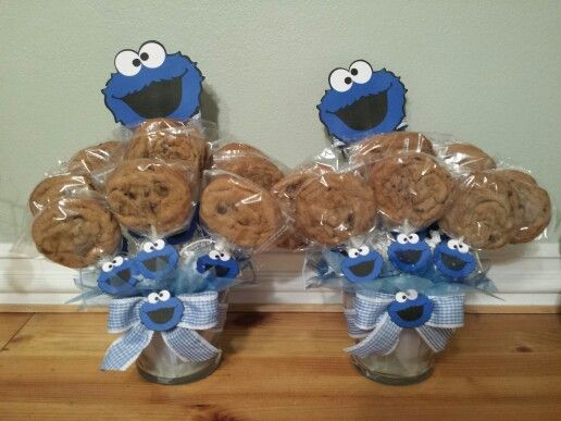 Cookie monster centerpiece juanito s nd birthday party