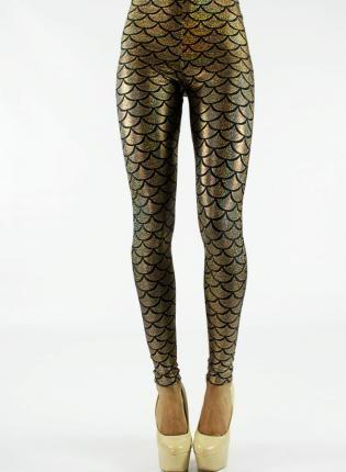 gold mermaid leggings
