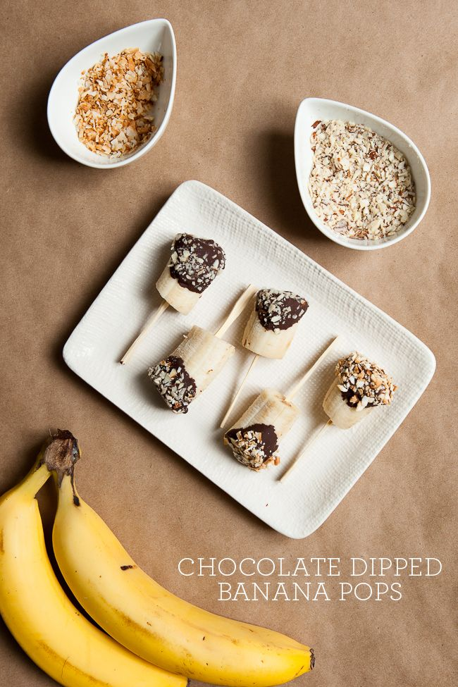 Chocolate Dipped Banana Pops | (T A B E M O N O) | Pinterest