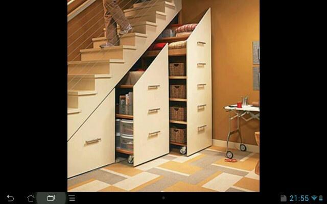 Rangement sous escalier ma future maison pinterest - Rangements sous escalier ...