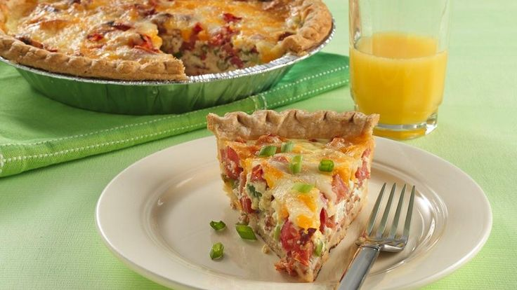 ... quiche that goes together easily in a frozen deep dish pie crust