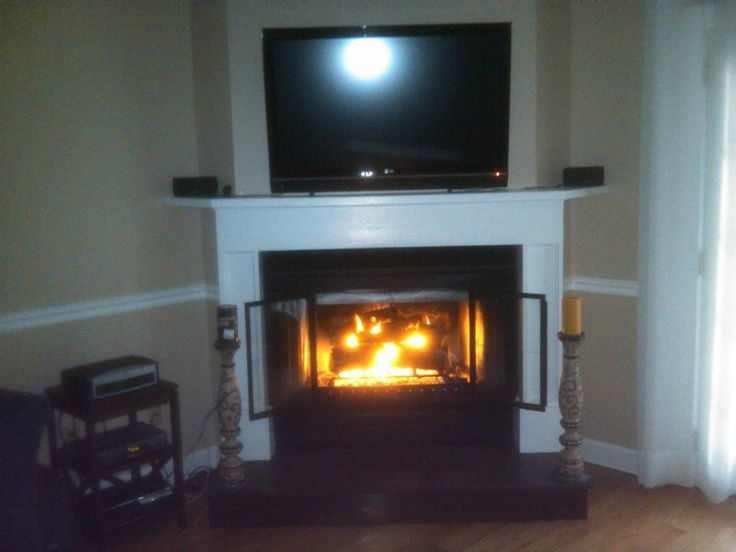 corner fireplace with tv insert home decorating pinterest
