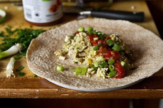 High Protein Vegan Breakfast Burrito | Deliciously Healthy | Pinterest