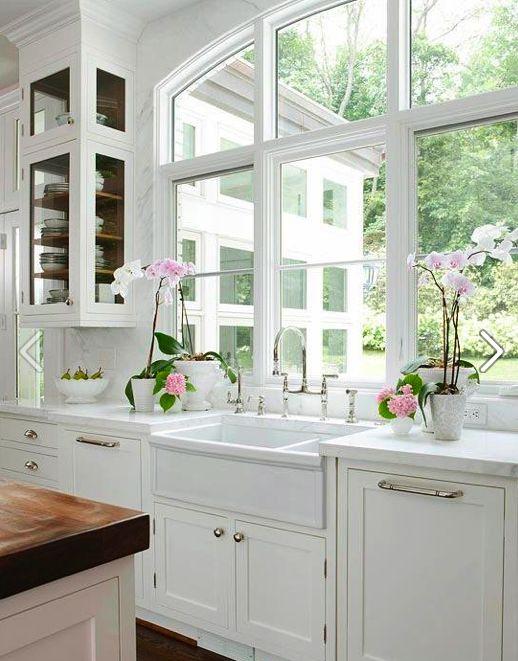 White Kitchen Windows Kitchen Pinterest