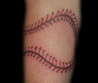 Pin by katelyn chalfant on tattoos pinterest for Baseball stitch tattoo
