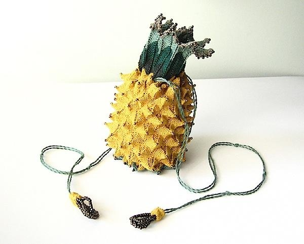 reproduction Regency pineapple reticule