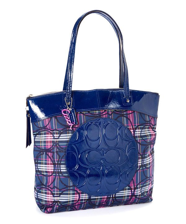 Love this Coach Blue  Pink Plaid Lauren Tartan Tote by Coach on # ...