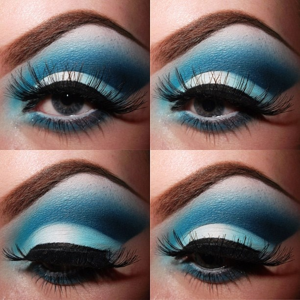 Blue smokey eyes ooh makeup pinterest for Smokey eyes blau