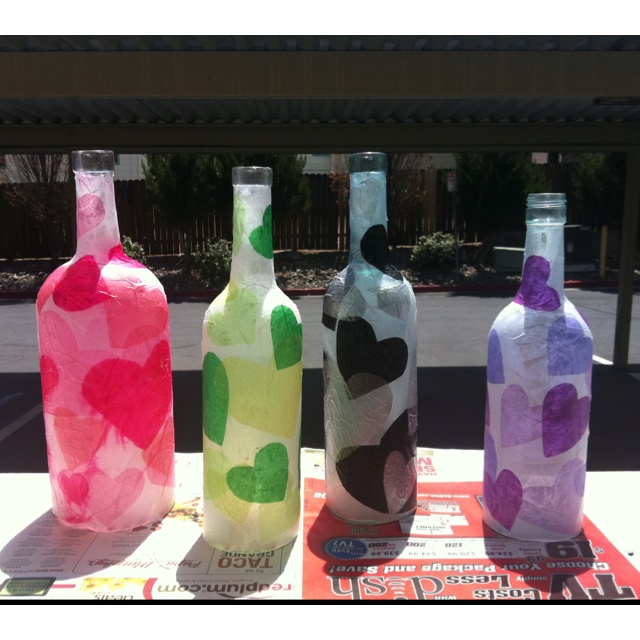 Paper m ch wine bottles fun things around the house for Cool things to do with a wine bottle