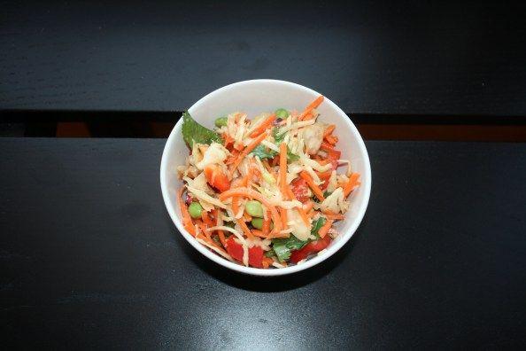 asian slaw with ginger peanut dressing | veggie sides | Pinterest